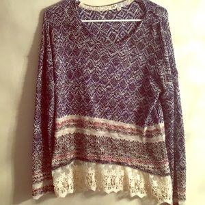 Boho chic sweater